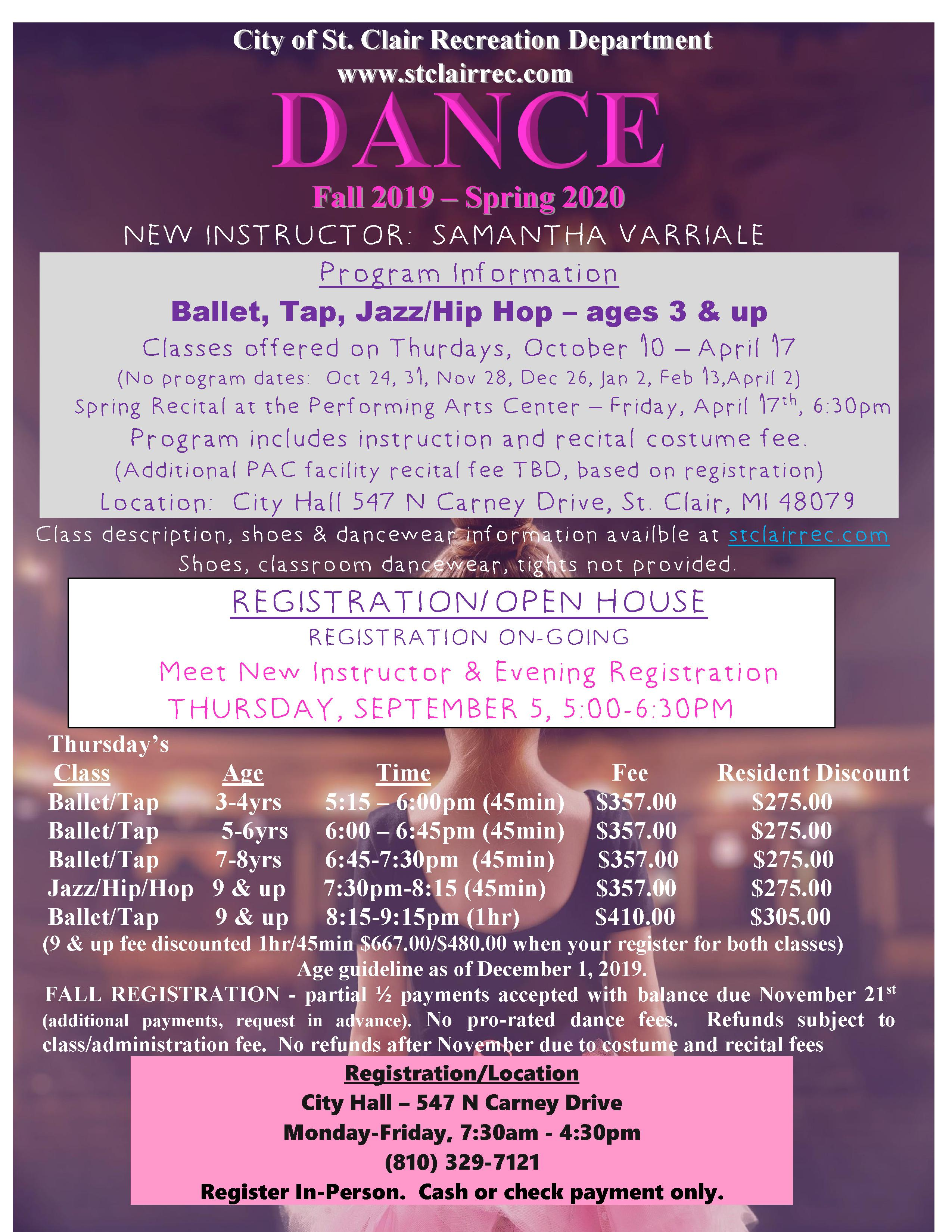 DANCE PAGE FLYER